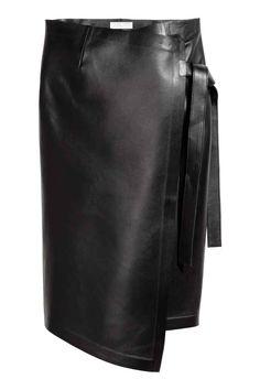 Skórzana spódnica - Czarny - ONA | H&M PL