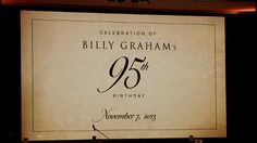 Billy Graham's 95th birthday bash | WCNC.com Charlotte
