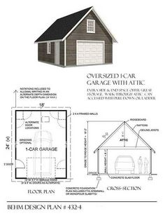 Hipped Roof Oversized Two Car Garage Plan 784 1 28 X 28