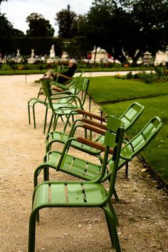 chairs in Paris' Tuileries Garden