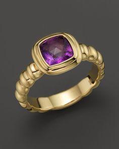 John Hardy Gold Bedeg Slim Square Station Ring with Amethyst John Hardy Jewelry, Black Diamond, 18k Gold, Heart Ring, Amethyst, Gemstone Rings, Jewelry Design, Slim, Band