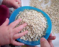 Porridge sensory play