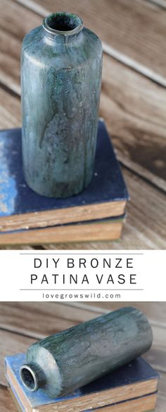 Love this gorgeous bronze patina finish! Learn how to create this look on furniture, lamps, vases, and more at LoveGrowsWild.com