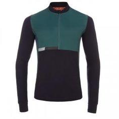 Men's 531 Dark Purple Merino Wool Cycling Jersey With Windproof Panels