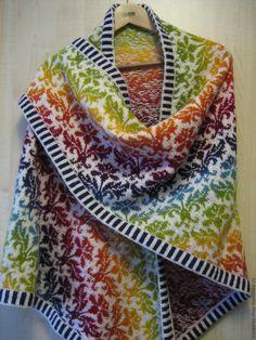 Crochet Wool, Form Crochet, Double Knitting, Hand Knitting, Punto Fair Isle, Norwegian Knitting, Knit Wrap, Fair Isle Knitting, Knitting Accessories