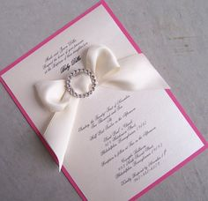 The Ribbon Christening /Baptism Invitation by TheExtraDetail