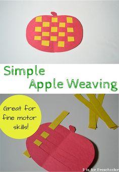 An easy fine motor activity for apple season!