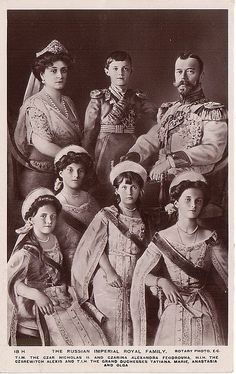 The Romanov family of Russia.