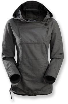 Need a no-cotton, no-zip hoodie. Arc'teryx C'esta Hoodie.