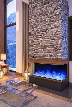 Amantii 60-TRU-VIEW-XL is an amazing 3-sided electric fireplace! Very unique modern design, no chimney requered, the heat is optional and variable, remote control, multicolor flame and more. All details on our website.