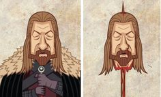 Les personnages de Game of Thrones Avant/Après : Ned Stark (ça pique un peu)