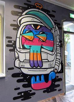 Street Art Travels – 40 créations de The Weird Collective Murals Street Art, Street Art Graffiti, Graffiti Doodles, Graffiti Drawing, Vexx Art, Mural Art, Doodle Art Drawing, Art Drawings, Art And Illustration