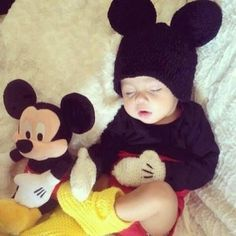 Oh my god!!! Angel sleeping #mickey