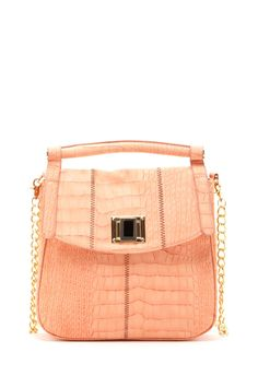 Jewel Turn-Lock Shoulder Bag