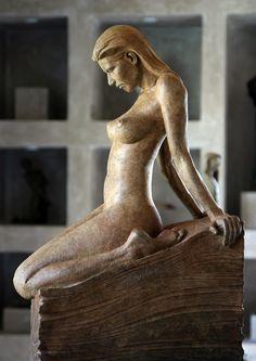 Sarah, half life block figure, Bronze Figurative sculpture by sculptor Steven Whyte, Carmel, California. Www.facebook.com/stevenwhytecarmel