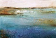 """Water Colors""   20x30 Abstract waterscape www.karenhale.com"