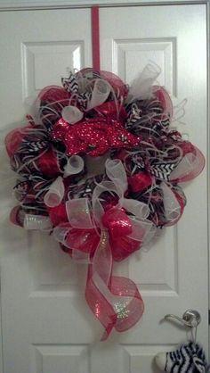 Arkansas Razorback Deco Mesh Wreath
