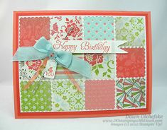 postage stamp punch, quilt card,