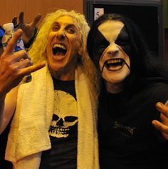 "melancholicovertones: "" Dee Snider(Twisted Sister) and Abbath(Immortal). """