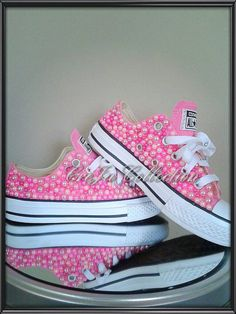 Check out this item in my Etsy shop https://www.etsy.com/listing/269932418/pearl-converse-kids-girl-custom-converse