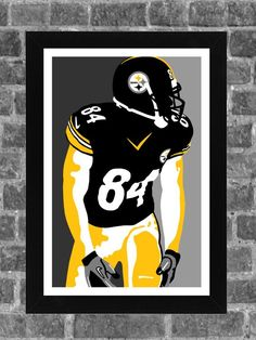 Pittsburgh Steelers Antonio Brown Portrait Sports Print Art 11x17 by FanFourLife on Etsy https://www.etsy.com/listing/231868109/pittsburgh-steelers-antonio-brown: