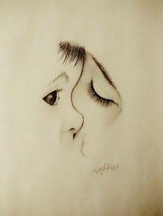 Pencil Art Drawings, Art Drawings Sketches, Easy Drawings, Drawing Faces, Creative Pencil Drawings, Pencil Drawing Tutorials, Unique Drawings, Cool Art Drawings, Realistic Drawings