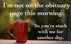 Morning humor.