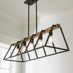 fgg Open Frame Island Chandelier weathered_gray_rustic_black Kitchen Improvements - Enjoy Now and Wh Dinning Room Light Fixture, Kitchen Chandelier, Dining Room Lighting, Cabinet Lighting, Ceiling Lighting, Chandelier Lighting, Dining Rooms, Chandelier Picture, Black Chandelier