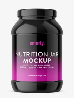 Mockup of popular nutrition jar. Mockup is prepared with ability to paste your own label. Mockup, Packaging Design, Nutrition, Jar, Pharmacy, Label, Apothecary, Design Packaging, Miniatures