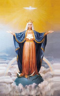 Our Lady of Mercy Symbols : University of Dayton, Ohio Divine Mother, Blessed Mother Mary, Blessed Virgin Mary, Religious Images, Religious Icons, Jesus E Maria, Queen Of Heaven, Sainte Marie, Bride Of Christ