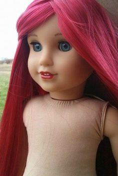 Custom American girl doll wig by ZazouCustomDolls on Etsy