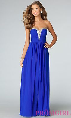 This strapless evening gown is the ULTIMATE statement piece.