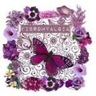Fibro flowers and butterfly