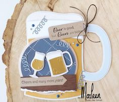 Tijd voor een feestje! » Marianne Design Tarjetas Pop Up, Marianne Design Cards, Collectible Cards, Shaped Cards, Fathers Day Cards, Love Cards, Men's Cards, Best Beer, Masculine Cards