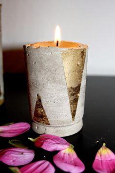 Wohnvorstellungen - Einrichtungsideen für alle: Beton DIY - Kerzenständer