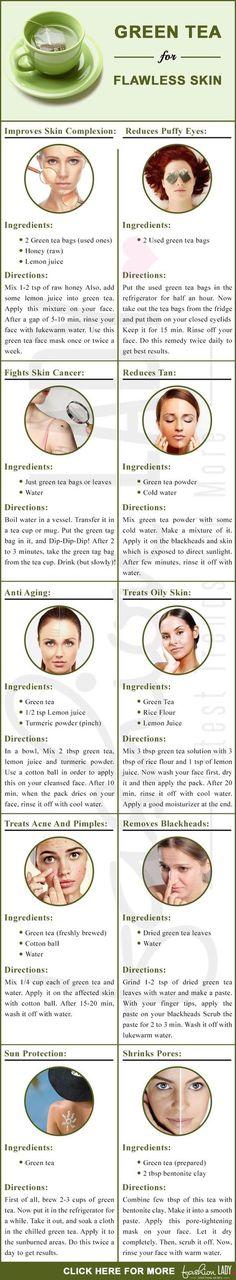 Green Tea For Flawless Skin