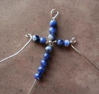 Cross Pendant Tutorials- From Wire Work to Beaded Tatting - The Beading Gem's Journal