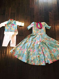 Baby Boy Dress, Little Girl Dresses, Girls Dresses, Kids Indian Wear, Kids Ethnic Wear, Frocks For Girls, Kids Frocks, Kids Lehenga, Combo Dress