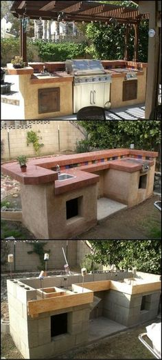 How to Build An Outdoor Kitchen - Thinking of ways to enhance your backyard? Then build an outdoor kitchen! It will encourage you to get outdoors more and there's every chance that it will also increase the value of your home.