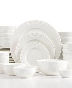 White Elements Beacon Hill Scalloped 42-Piece Set Service for 6 - Dinnerware -  sc 1 st  Pinterest & White Elements Lexington 42-Pc. Dinnerware Set Service for 6 ...