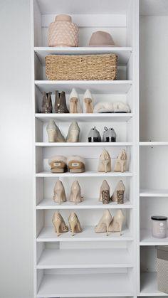 Modular Closets' shoe shelf closet organizer is an all plywood shoe storage shelf kit. A popular addition to every closet, the shoe tower includes 8 adjustable shelves to create a sturdy shoe tower. Cheap Shoe Rack, Best Shoe Rack, Cheap Closet, Diy Shoe Rack, Shoe Racks, Shoe Storage Shelf, Closet Shelves, Diy Shoe Shelf, Architecture 3d