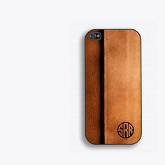 Printed Leather Look Monogram Phone Case iPhone 5, iPhone 5s, iPhone 5c, iPhone 4, iPhone 4s, Galaxy S3 S4 S5. mens gift for him FCM-158 by FirstClassMonograms on Etsy