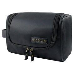 Jacki Design Mens Toiletry Bag with Hanger Black - ABC15008BK