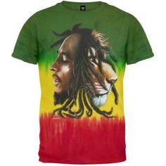 Bob Marley - Profiles Tie-Dye T-Shirt - 2X-Large, Men's, Size: XXL, Multi
