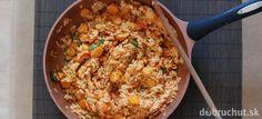 Fotorecept: Rajčinové rizoto s opraženými arašidmi