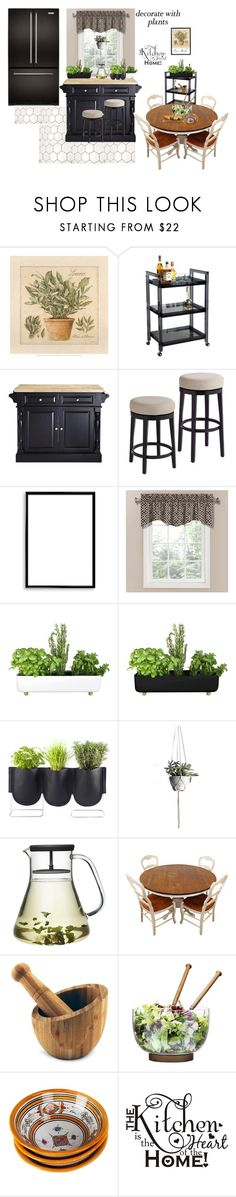"""""""Grow Fresh Herbs In the Kitchen"""" by lulu13nyc ❤ liked on Polyvore featuring interior, interiors, interior design, home, home decor, interior decorating, Home Decorators Collection, Bomedo, Waverly and Bellila"""