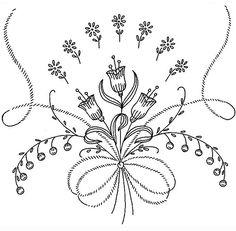 Embroidery Pattern from Bordado Passo a Passo: Riscos de bordado livre. jwt