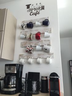 kitchen decoration – Home Decorating Ideas Kitchen and room Designs Coffee Station Kitchen, Coffee Bars In Kitchen, Home Coffee Stations, House Coffee, Cafe Interior, Interior Walls, Coffee Shop Business, Coffee Corner, Decorating Coffee Tables