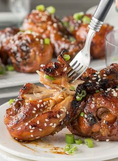 This Slow Cooker Teriyaki Chicken recipe is super quick and results in better than take-out flavors!
