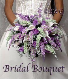 wisteria flower boquets | wedding bouquet complete package bouquets silk bridal flowers weddings ...